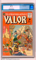 Golden Age (1938-1955):Adventure, Valor #3 Gaines File pedigree 12/12 (EC, 1955). Beautiful Joe Orlando cover. A slight crease at the lower right back cover i...