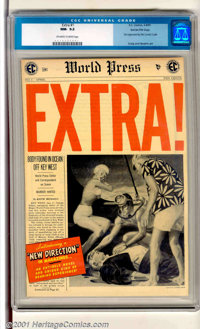 """Extra! #1 Gaines File pedigree 9/12 (EC, 1955). First issue of this classic """"New Direction"""" title, not approve..."""
