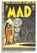 Golden Age (1938-1955):Humor, Mad #1 (EC, 1952). Solid low-grade copy of this key first issue has good colors and light cream pages. Most wear is on back ...