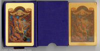 Maxfield Parrish Playing Cards (Edison Mazda, 1918). We present the first of a complete collection of Edison Mazda Parri...