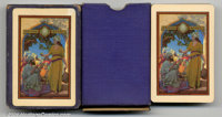 "Maxfield Parrish Playing Cards (Edison Mazda, 1923). A lovely image, this is the ""Lamp Seller of Bagdad"". Cond..."