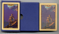 """Maxfield Parrish Playing Cards (Edison Mazda, 1928). Parrish favorite """"Contentment"""". Condition of the deck is..."""