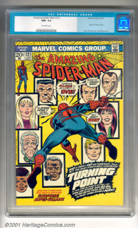 """The Amazing Spider-Man #121 (Marvel, 1973). Spider-Man cries, """"Someone close to me is about to die!"""" on the co..."""