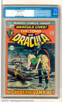 Tomb of Dracula #1 (Marvel, 1972). This fan-favorite debut issue introduces Count Dracula with story art by Gene Colan a...