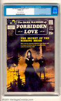Bronze Age (1970-1979):Romance, Dark Mansion of Forbidden Love #1 (DC, 1971). DC's short-livedattempt to mix romance and horror, this has a very evocative ...