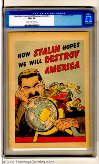 How Stalin Hopes We Will Destroy America (nn) (Joe Lowe Co., 1951). Scarce promotional giveaway in top-grade with nice p...
