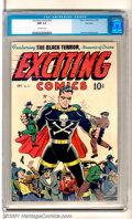 "Golden Age (1938-1955):Adventure, Exciting Comics #51 Big Apple pedigree (Nedor Publications, 1946). The Black Terror has crime ""In Hand"" and on the run on th..."