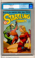 Golden Age (1938-1955):Science Fiction, Startling Comics #46 Okajima pedigree (Better Publications, 1947).A classic Graham Ingels bondage cover highlights this hig...