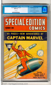 Special Edition Comics #1 Denver pedigree (Fawcett, 1940). Key issue (published prior to Captain Marvel Adventures #1) i...