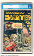 Golden Age (1938-1955):Horror, This Magazine Is Haunted #4 Aurora pedigree (Fawcett, 1952). Niceglossy copy of this early horror comic book features art b...