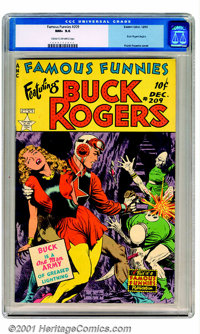 """Famous Funnies #209 (Eastern Color, 1953). The cover caption says it best: """"Buck is a One Man Army of Greased Light..."""