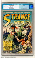 "Golden Age (1938-1955):Horror, Strange Worlds #3 (Avon, 1951). Sci-Fi title showcasing ""AstoundingSuper-Science Fantasies"". Magnificent copy of this issue..."