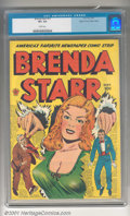 Golden Age (1938-1955):Crime, Brenda Starr #13 (#1) Mile High pedigree (Four Star, 1947). Vibrant sun-yellow cover accented with a rich ruby-red logo. Ful...