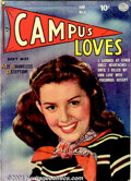 Golden Age (1938-1955):Romance, Campus Loves Group (Quality, 1949). A group of four books thatincludes issues #1 FN+; #2 VG; #4 FN; and #5 FN+. Issues #1 ...(Total: 4 Comic Books Item)