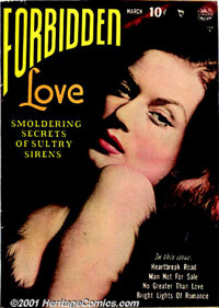 Forbidden Love Group (Quality, 1950). Three scarce issues: #1 FN; #3 VG+; and #4 FN+. All have photo covers with artwork...