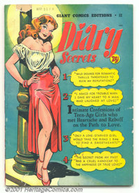 Giant Comics Editions Diary Secrets #12 (St. John, 1949). This rare square-bound edition is highlighted by an alluring p...