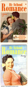 Golden Age (1938-1955):Romance, Hi-School Romance Group (Harvey, 1949-55). Attractive mid-grade runincludes issues #1-2 FN; #3 and 5 FN+; #7, 8, 18, 19 and... (Total:9 Comic Books Item)