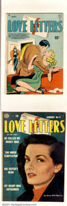 Golden Age (1938-1955):Romance, Love Letters Group (Quality, 1949). Solid run of Love Lettersincludes issues #1 FN; #2 VG; #5 VG; #6 VG+; #7 FN+; #8 VG...(Total: 22 Comic Books Item)