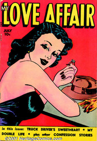 Romance Comics Group (Fox Features, 1949-54). A nice group of 10 romance comic books which includes My Love Affair #1 FN...
