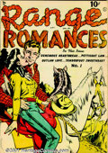 Golden Age (1938-1955):Romance, Range Romances Group (Quality, 1950). Solid mid-grade group ofbooks includes #1 FN (Canadian edition with Reed Crandall art...(Total: 4 Comic Books Item)