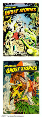 Amazing Ghost Stories #14-16 (St. John, 1954). This three issue run has cover art by the talented Matt Baker with supple...