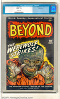 "Golden Age (1938-1955):Horror, Beyond #1 Diamond Run pedigree (Ace, 1950). This first issueshowcases ""Weird, Spooky, Supernatural Stories"" with the cover..."