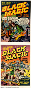 Golden Age (1938-1955):Horror, Black Magic Group (Crestwood/Headline, 1950). This group includesissues #1 FN-; #2 VG; and Vol. 2 #2 VG. All issues feature...(Total: 3 Comic Books Item)