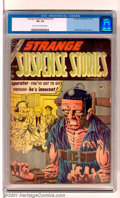 Golden Age (1938-1955):Horror, Strange Suspense Stories #19 (Charlton, 1954). This highlysought-after issue features the classic Electric Chair cover byS...