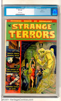 "Golden Age (1938-1955):Horror, Strange Terrors #1 Aurora pedigree (St. John, 1952). This issuefeatures ""Zombies March by Moonlight"" and has a dungeon bond..."