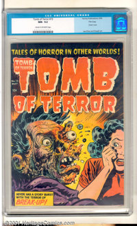 Tomb of Terror #15 (Harvey, 1954). From the Harvey File copies. Famous exploding face cover that is highly sought-after...