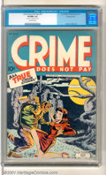 Golden Age (1938-1955):Crime, Crime Does Not Pay #33 (Lev Gleason, 1942). Very rare double cover copy of this highly sought-after issue has the classic gr...