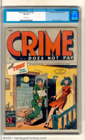 Golden Age (1938-1955):Crime, Crime Does Not Pay #43 (Lev Gleason, 1946). High-grade copy of this issue has a classic execution cover by Charles Biro. Goo...