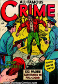 Golden Age (1938-1955):Romance, Fox Giant Crime Comic Group (Fox Features, 1949-50) Four veryelusive large square-bound crime comics, including: 132-page ...(Total: 4 Comic Books Item)
