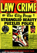 Golden Age (1938-1955):Crime, Law Against Crime Group (Essenkay Publishing, 1948). Three books from this crime title include #2 VG/FN; #3 VG+; and #3 VG/F... (Total: 3 Comic Books Item)