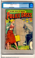 Golden Age (1938-1955):Crime, Record Book of Famous Police Cases (St. John, 1949). A very rare square-bound book which features cover art by Matt Baker an...