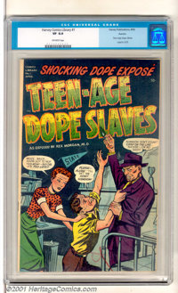 "Teen-Age Dope Slaves #1 Aurora pedigree (Harvey, 1952). This book presents a ""Shocking Dope Expose""! Popular f..."