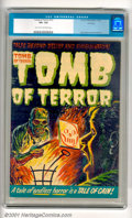 Golden Age (1938-1955):Horror, Tomb of Terror #12 (Harvey, 1953). Pre-code-horror doesn't get muchbetter than this! With a gruesome cover of a man about t...