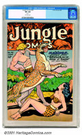 Golden Age (1938-1955):Adventure, Jungle Comics Group (Fiction House, 1944-50). Attractive six book group of Jungle Comics includes issues #49 CGC VF 8.0 Crea... (Total: 6 Comic Books Item)