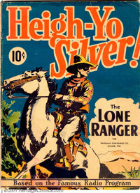 Large Feature Comic #3 (Dell, 1938). The Lone Ranger stars in this scarce large format story book (based on the radio se...