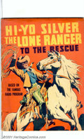 "Large Feature Comic #7 (Dell, 1939). Based on the famous radio program, ""Hi-Yo Silver The Lone Ranger to the Rescue..."