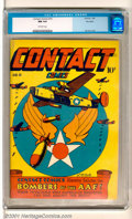 Golden Age (1938-1955):Adventure, Contact Comics #10 Big Apple pedigree (Aviation Press, 1946). Magnificent copy of this comic book has an eye-catching WWII B...