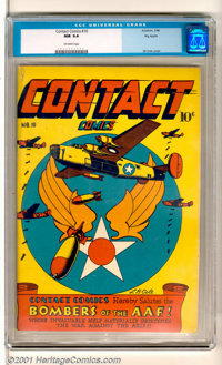 Contact Comics #10 Big Apple pedigree (Aviation Press, 1946). Magnificent copy of this comic book has an eye-catching WW...