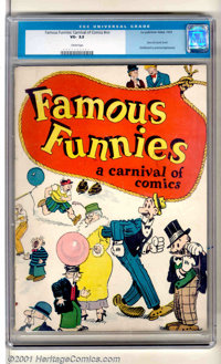 Famous Funnies: A Carnival Of Comics (1933). A clean and complete example of this historically significant book. Spine s...
