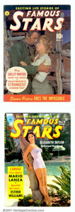 """Famous Stars Group (Ziff-Davis, 1950). Complete run of this title featuring the """"Exciting Life Stories of Famous St..."""