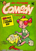 Golden Age (1938-1955):Romance, Funny Comics Group (St. John, 1950-52) This lot contains two largesquare-bound comics, including: All-Picture Comedy Carn... (Total:2 Comic Books Item)