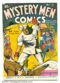 Golden Age (1938-1955):Superhero, Mystery Men Comics #1 (Fox, 1939). Scarce first issue introduces the Blue Beetle and the Green Mask with the first Blue Beet...