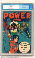 Golden Age (1938-1955):Superhero, Power Comics #2 (Holyoke Publications, 1944). Scarce second issue his a symbolic WW II cover as the Allies smash Hitler and ...
