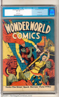 Golden Age (1938-1955):Superhero, WonderWorld Comics #15 (Fox, 1940). Scarce early issue stars The Flame with back-up stories of Yarko the Great, Spark Steven...