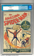 Silver Age (1956-1969):Superhero, The Amazing Spider-Man #1 (Marvel, 1963). Spectacular first issueas Marvel Comics' most sensational hero is awarded his ver...