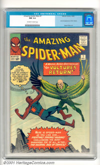 The Amazing Spider-Man #7 (Marvel, 1963). Early issue has the second appearance of the Vulture with cover and story art...